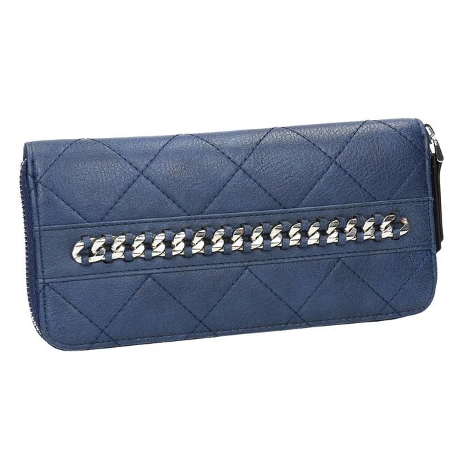 Dámská peněženka s prošíváním bata, modrá, 941-9146 - 13