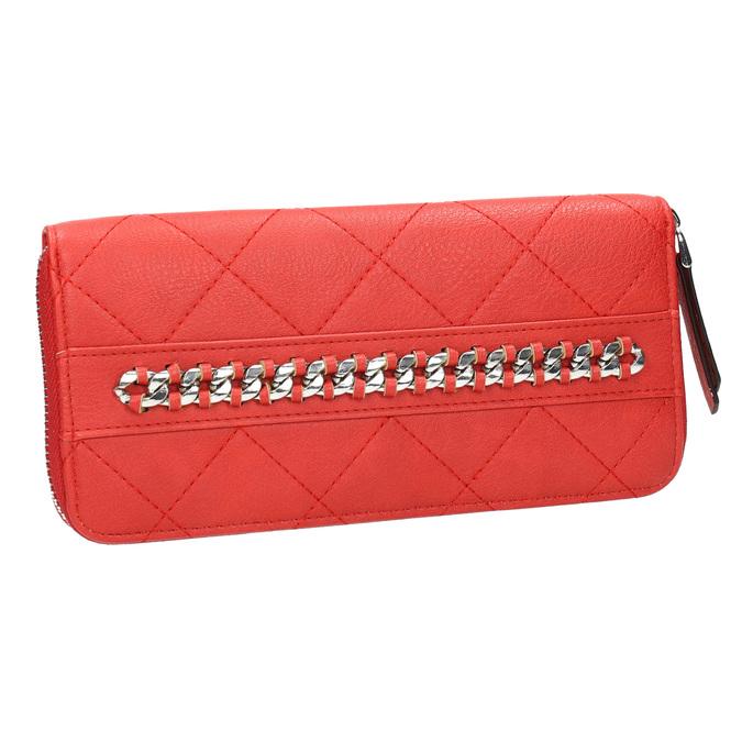 Červená peněženka s řetízkem bata, červená, 941-5146 - 13