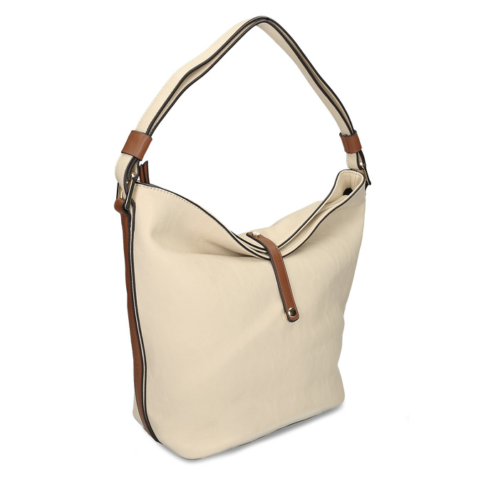 kabelka v Hobo stylu bata, béžová, 961-8705 - 13