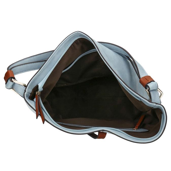 Modrá kabelka v Hobo stylu bata, modrá, 961-9705 - 15