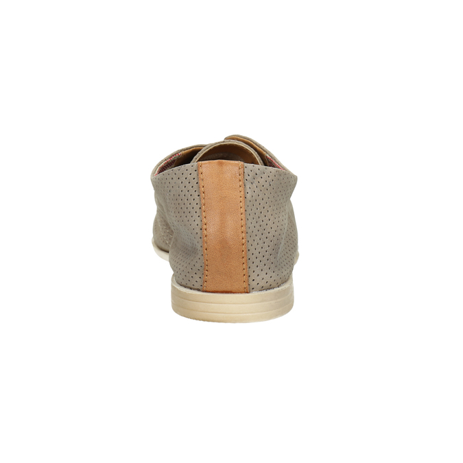 Kožené dámské polobotky bata, šedá, 526-2619 - 17