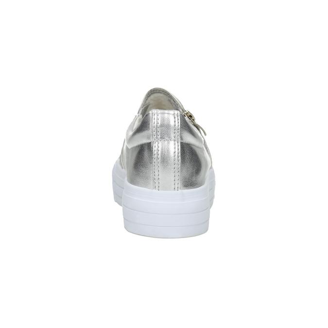 Dámské stříbrné Slip-on se zipem north-star, stříbrná, 511-1601 - 17