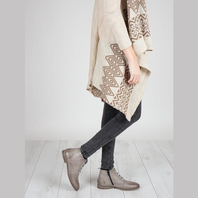 Kožená kotníčková obuv bata, hnědá, 596-2645 - 18