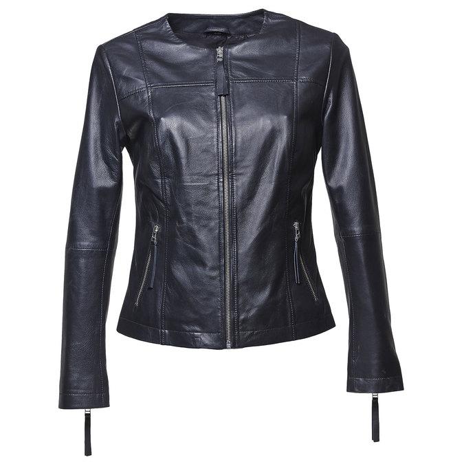 Elegantní kožená bunda bata, černá, 974-6312 - 13