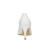 Dámské kožené lodičky bata, bílá, 624-1632 - 17