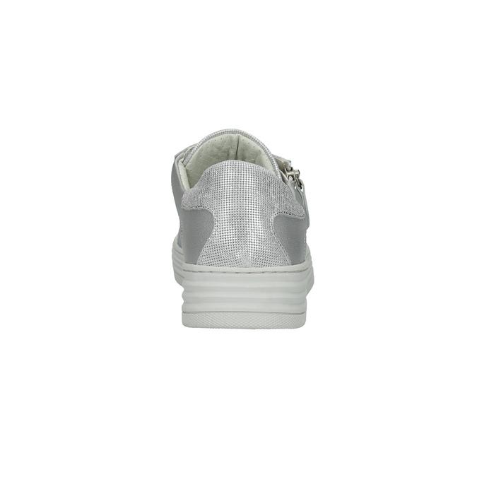 Kožené dámské tenisky bata, stříbrná, 526-1630 - 17