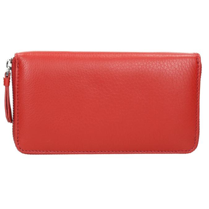 Červená kožená peněženka bata, červená, 944-5178 - 26