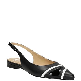 Baleríny s páskem přes patu bata, černá, 526-6616 - 13