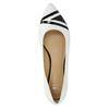 Kožené dámské baleríny bata, bílá, 524-1602 - 19