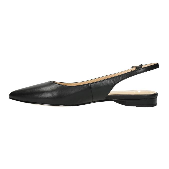 Dámské baleríny s otevřenou patou bata, černá, 524-6603 - 26
