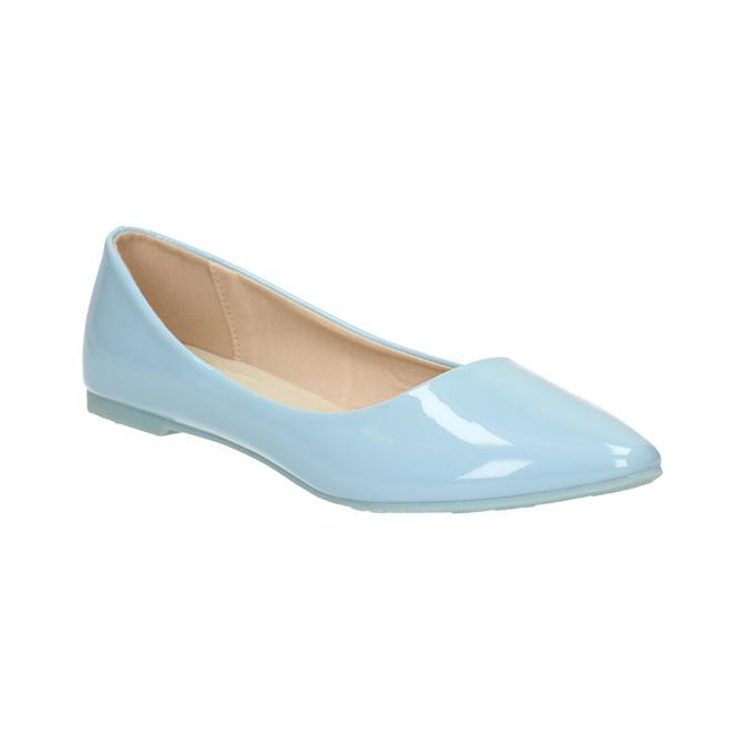 Světle modré dámské baleríny bata, modrá, 521-9602 - 13
