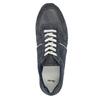 Pánské kožené tenisky bata, modrá, 843-9624 - 19