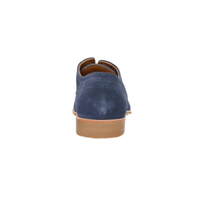 Pánské polobotky z veluru bata, modrá, 823-9601 - 17