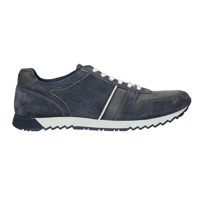 Pánské kožené tenisky bata, modrá, 843-9624 - 15