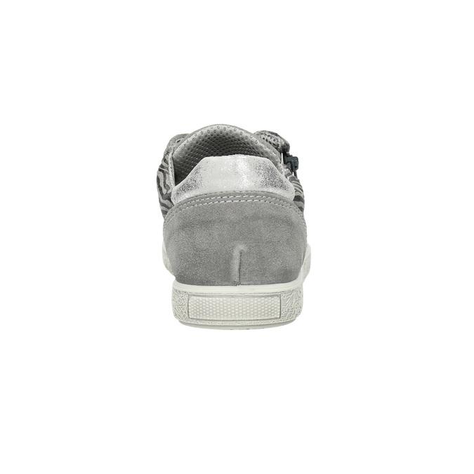 Dětské kožené tenisky mini-b, šedá, 423-2600 - 17