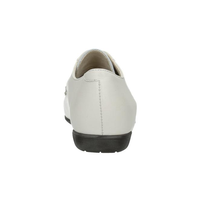 Dámské kožené polobotky bata, bílá, 526-1635 - 17