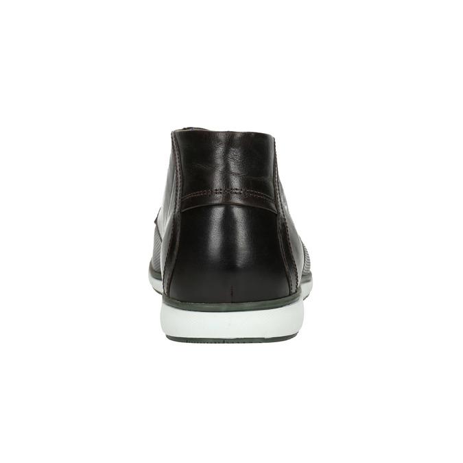 Kožená kotníčková obuv s ležérní podešví bata, černá, 826-4818 - 17