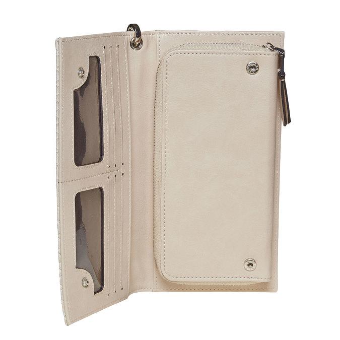 Krémová dámská peněženka s poutkem bata, béžová, 941-8148 - 17