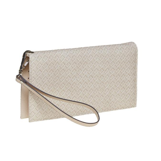 Krémová dámská peněženka s poutkem bata, béžová, 941-8148 - 13