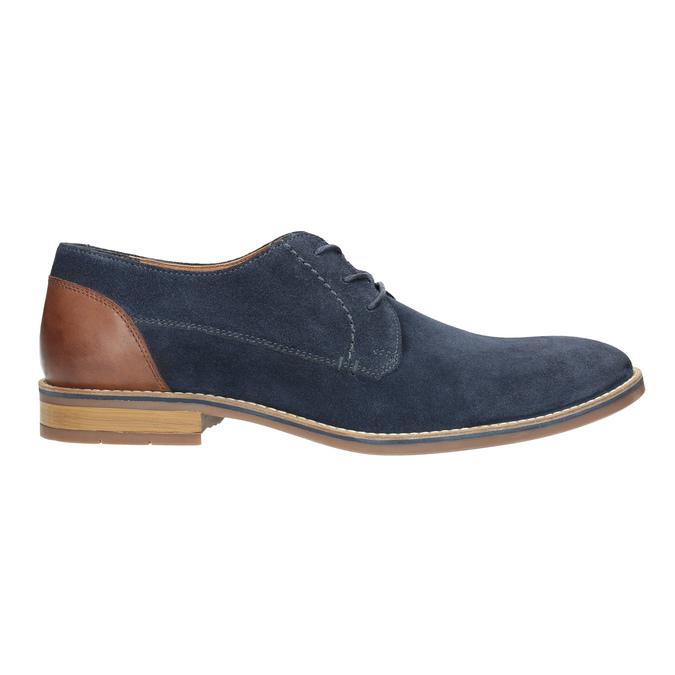 Modré polobotky z broušené kůže bata, modrá, 823-9606 - 15