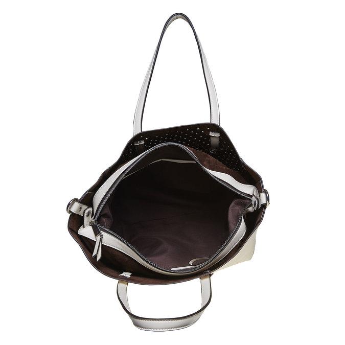 Dámská kabelka s perforací bata, bílá, 961-1276 - 19