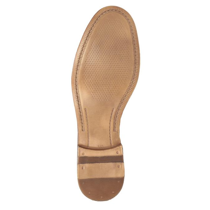 Ležérní kožené Derby polobotky bata, hnědá, 826-3907 - 26