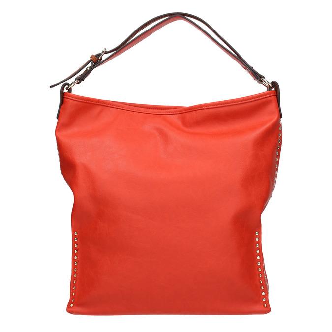 Červená kabelka s dvojitým uchem bata, červená, 961-5707 - 26