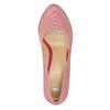 Kožené pruhované lodičky bata, růžová, 726-5633 - 19