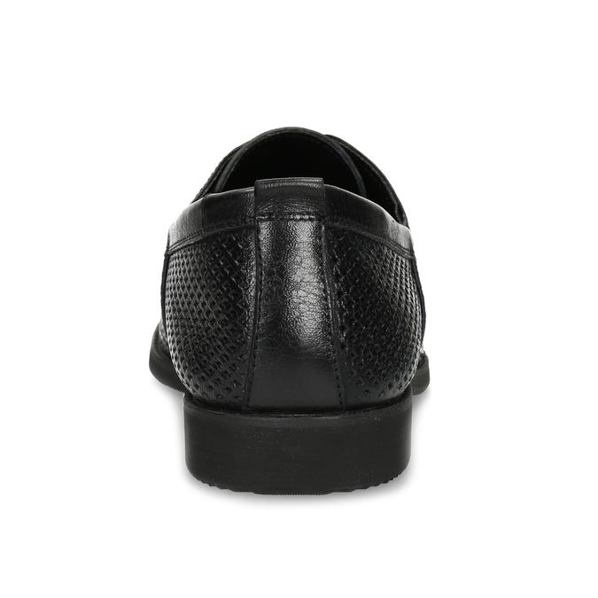 Kožené polobotky s perforací bata, černá, 854-6601 - 15