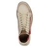 Kožená kotníčková obuv s červeným zipem weinbrenner, hnědá, 596-8654 - 19