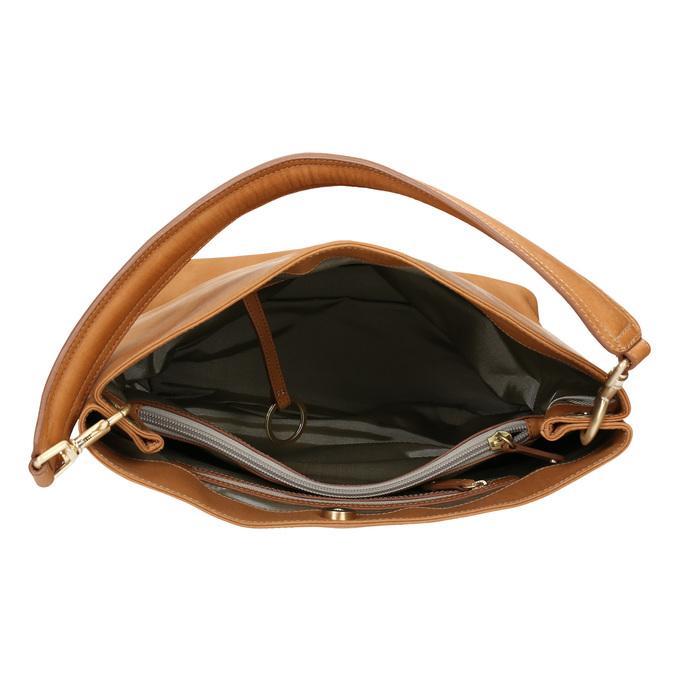 Kožená kabelka s odnímatelným uchem vagabond, béžová, 964-8051 - 15