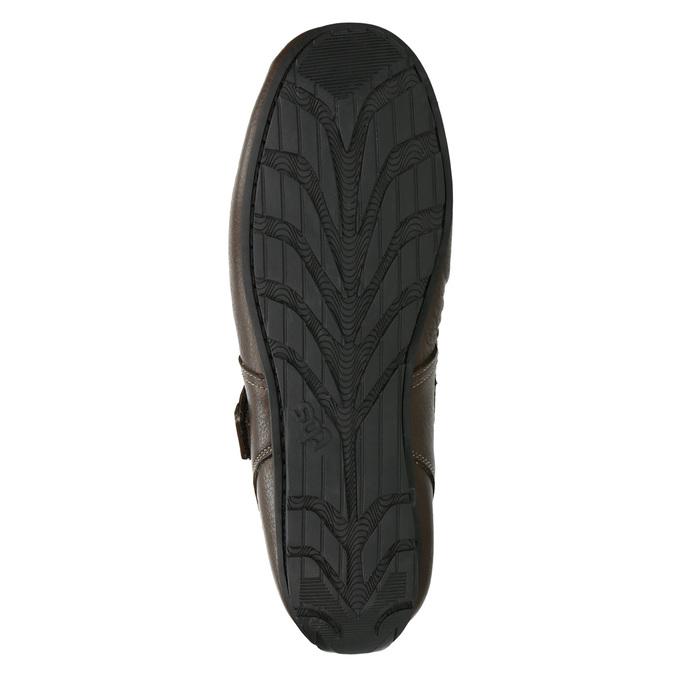 Pánské kožené sandály tbs-, hnědá, 814-4004 - 26