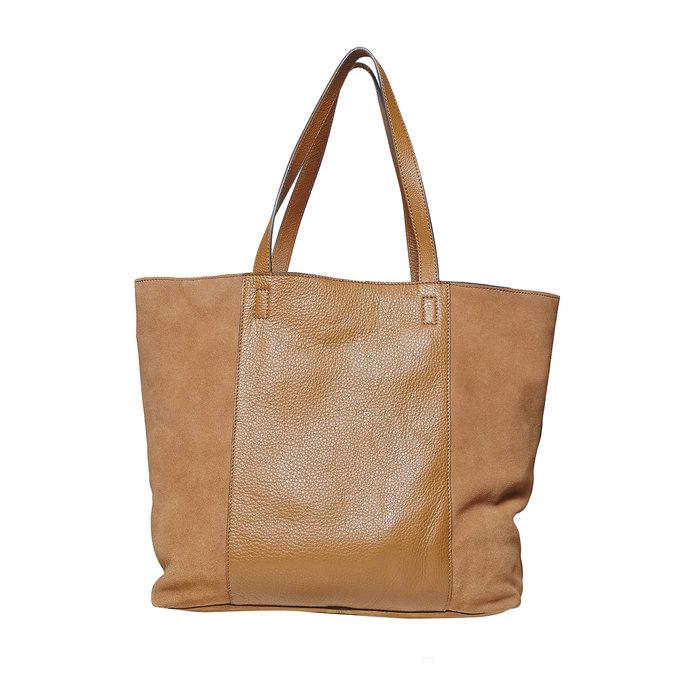 Dámská kožená kabelka hnědá bata, hnědá, 964-3185 - 26