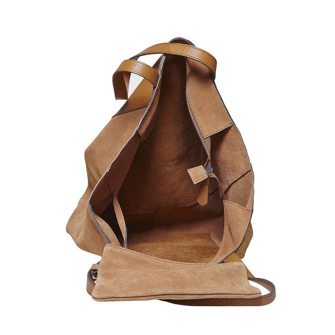 Dámská kožená kabelka hnědá bata, hnědá, 964-3185 - 15