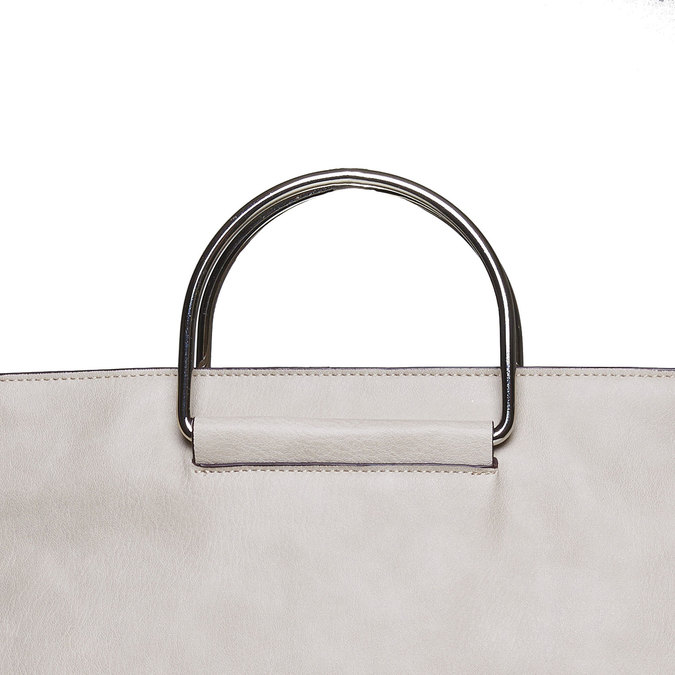 Krémová dámská kabelka bata, šedá, 961-8327 - 17