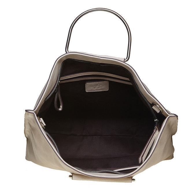 Krémová dámská kabelka bata, šedá, 961-8327 - 15