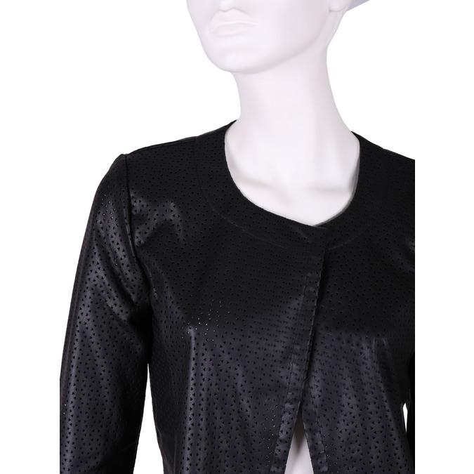 Dámská bunda s perforací bata, černá, 971-6166 - 16