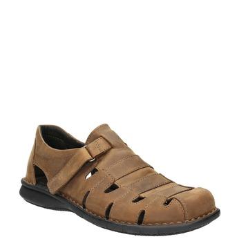 Kožené pánské sandály hnědé bata, hnědá, 864-4600 - 13