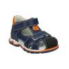Chlapecké kožené sandály bubblegummers, modrá, 166-9600 - 13