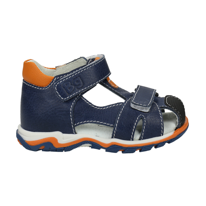Chlapecké kožené sandály bubblegummers, modrá, 166-9600 - 15
