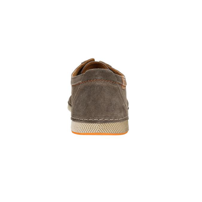 Ležérní polobotky z broušené kůže weinbrenner, hnědá, 843-4629 - 17
