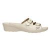 Dámská domácí obuv na podpatku bata, béžová, 579-8611 - 15