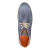 Kotníčková obuv z broušené kůže weinbrenner, modrá, 843-9625 - 19