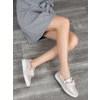 Kožená Slip-on obuv s mašlí bata, růžová, 516-5605 - 18
