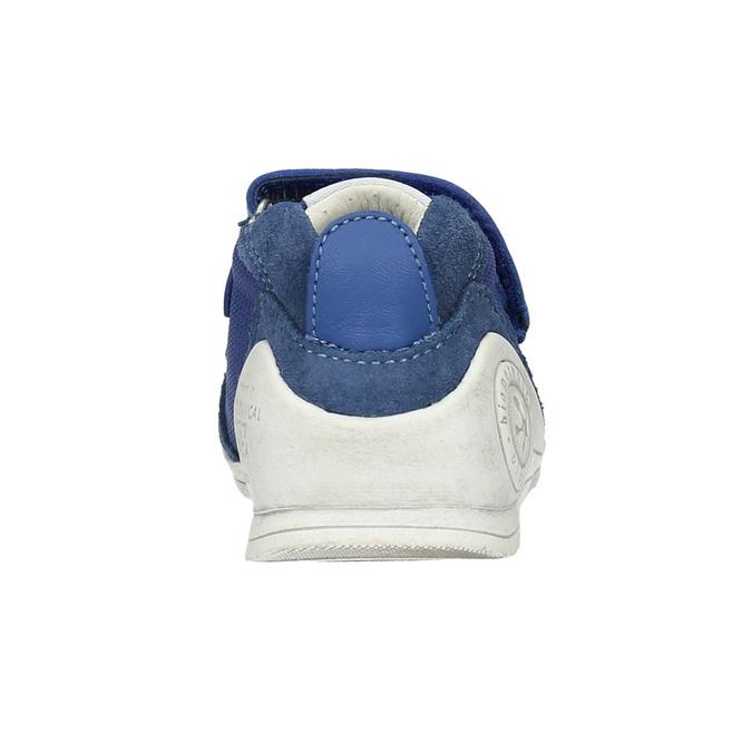 Dětská kožená obuv biomecanics, modrá, 113-9017 - 17