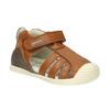 Dětská kožená obuv biomecanics, hnědá, 114-4016 - 13
