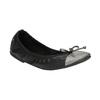 Dámské baleríny s pružným lemem bata, černá, 521-2601 - 13