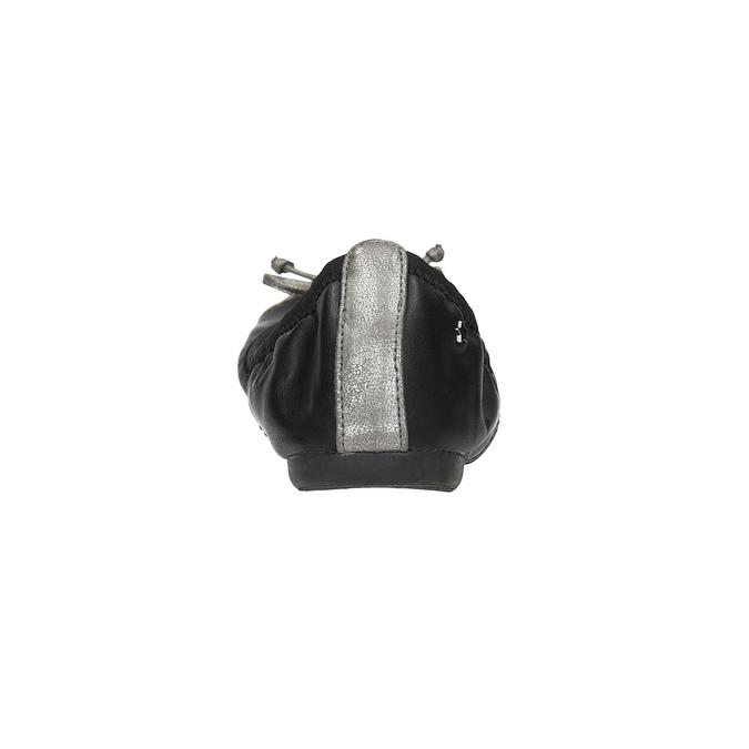 Dámské baleríny s pružným lemem bata, černá, 521-2601 - 17