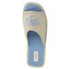 Domácí obuv s nápisem bata, modrá, 579-9618 - 19