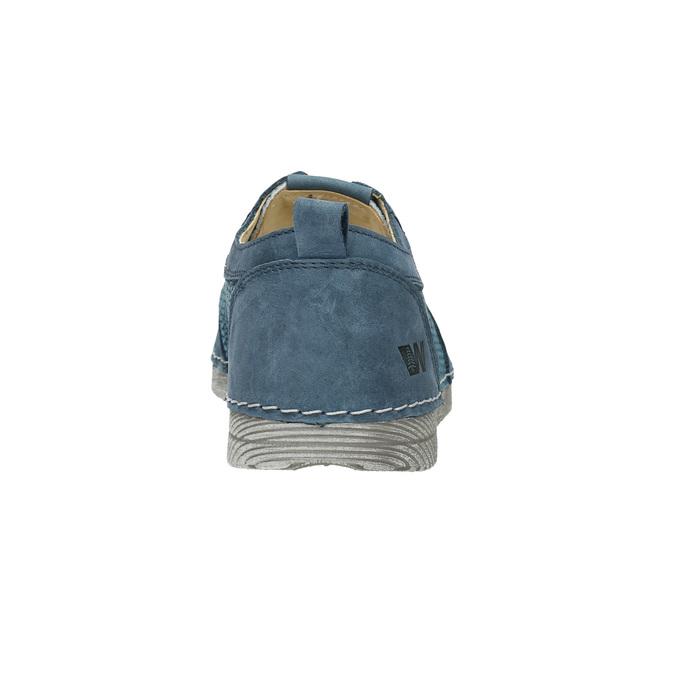 Ležérní kožené polobotky weinbrenner, modrá, 523-9475 - 17